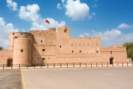 Facade of the Jabrin Fort in Bahla (Oman)