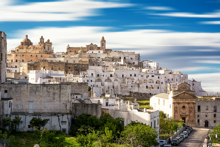 Panoramic view of Ostuni (Italy) Editorial