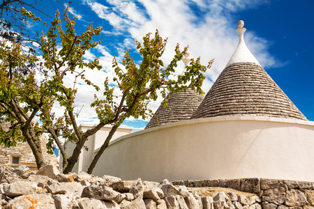 Trulli restored and whitewashed (Italy)