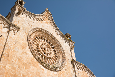 Window of the cathedral of Ostuni (Italy) Stock Photo
