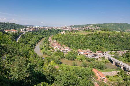 Panorama of the city of Veliko Tarnovo and the Yantra river