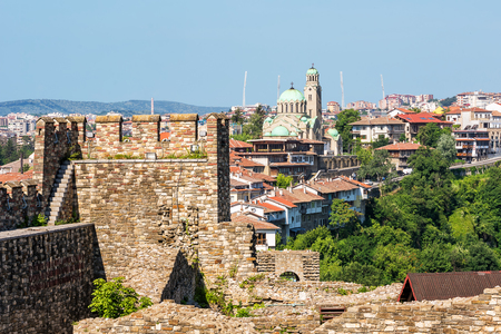 View of the town of Veliko Tarnovo from the castle (Bulgaria)