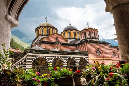 Rila, Bulgaria - June 23, 2019: Rila Monastery, one of the main tourist destinations and UNESCO site in Bulgaria