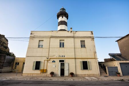 Front of the Ortona Lighthouse building.  Translate: Lighthouse - Seafaring Military Ortona Lighthouse