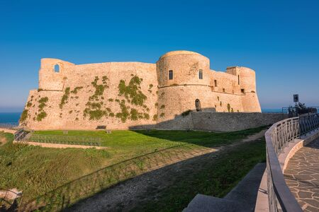 Aragonese Castle of Ortona at sunset