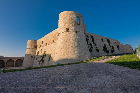 Aragonese Castle of Ortona at sunset, Italy