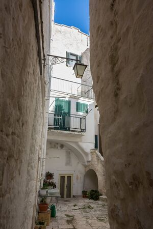 Characteristic alley in the historic center of Cisternino (Italty)