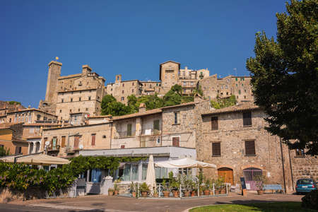 Overview of the historic center of Bolsena, Italy