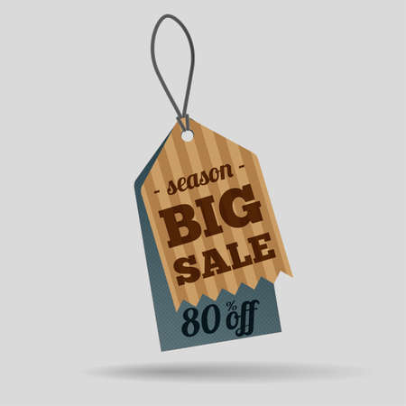 Season big sale tag Vector
