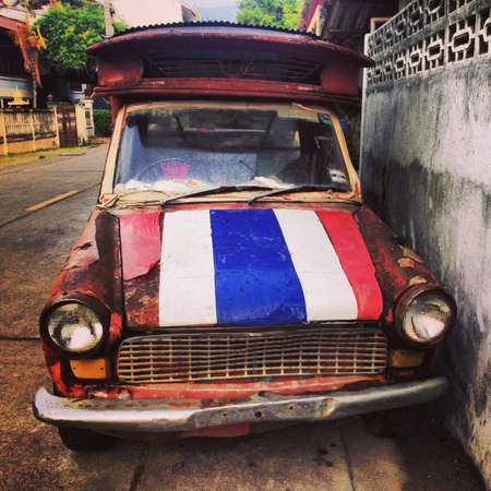 rusting: An old rusting songtow cab vehicle
