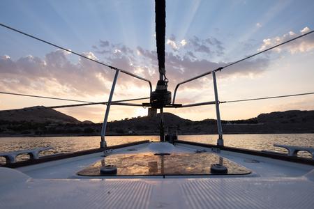 bow towards the sun, dodecanese islands