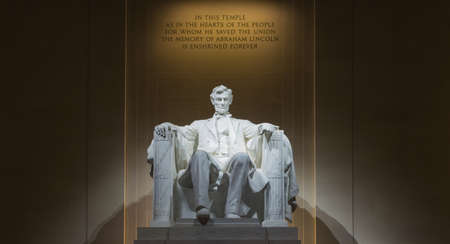 abe: Washington, DC - Lincoln Memorial at night Stock Photo