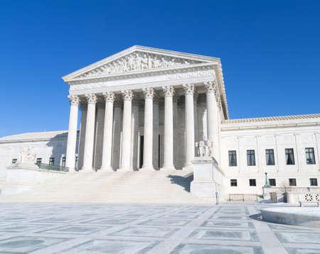 Washington, DC - US Supreme Court building  angled view