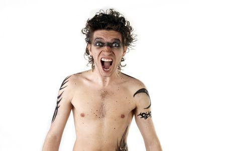 Man with tattoos posing photo