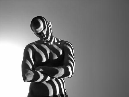 Straps Pattern on Man Skin