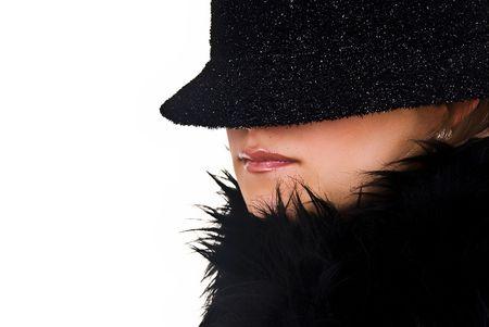 incognito: Incognito woman in black hat