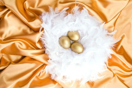 Golden eggs Stock Photo - 4898175