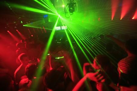 night club: Nocturno Music Event Parte l�ser ilumina Antecedentes