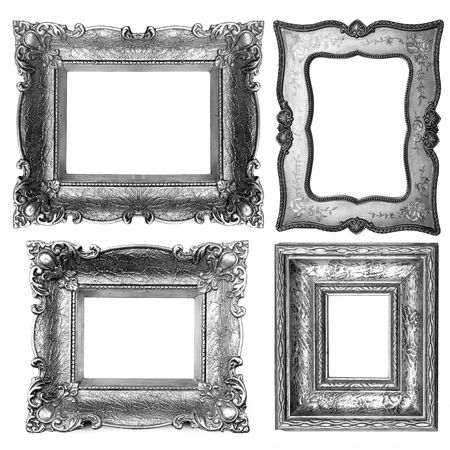 black and silver: Old Dark Picture Frames