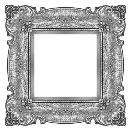 Metal Frame isolated on white background, studio shot photo