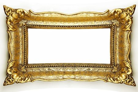 Old Gold Picture Frame Stock Photo