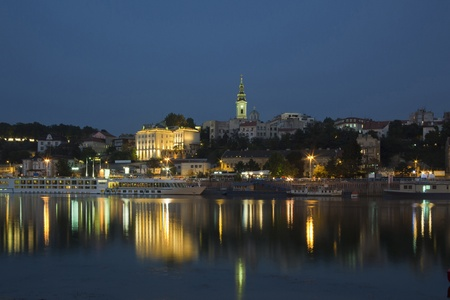 Belgrade, View from the river Sava, Serbia Europe photo