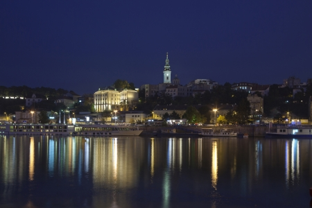 Belgrade, View from the river Sava, Serbia Europe Stock Photo