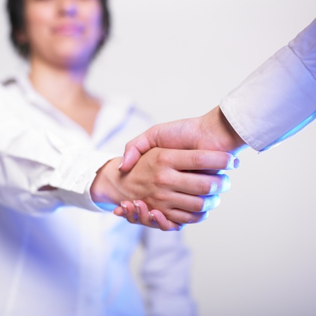 Two hands in Handshake - Business Handshaking Stock Photo - 9423625
