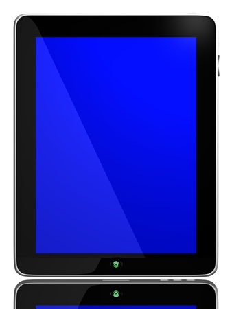 Blue Screen on Tablet Computer Stock Photo - 9704869