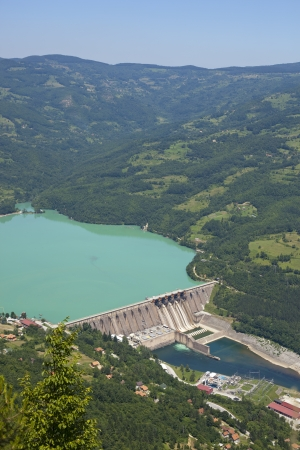 Hydroelectric Power Perucac Drina Dam Serbia