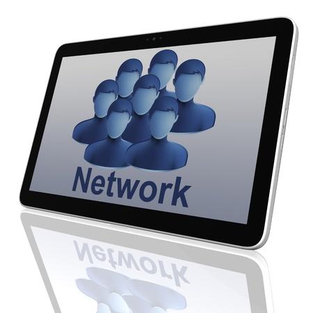 Grupo de Redes Sociales de las computadoras Tablet Foto de archivo - 11266769