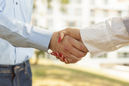 Two hands in Handshake - Business Handshaking Stock Photo - 14620357