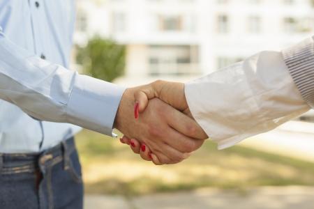 Two hands in Handshake - Business Handshaking Stock Photo - 14620352
