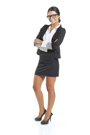 Elegant and cute businesswoman in studio, business woman  Stock Photo - 14932803