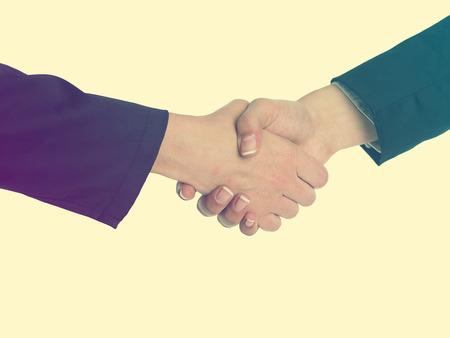 good bey: Handshake Handshaking isolate on white