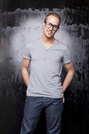 metrosexual: Good looking men, studio shot, metrosexual gay, casual clothing
