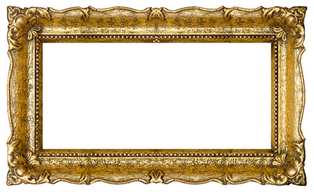 verry: Verry Big Old Gold picture frame, isolated on white - extra large file and quality - 33mpx Stock Photo