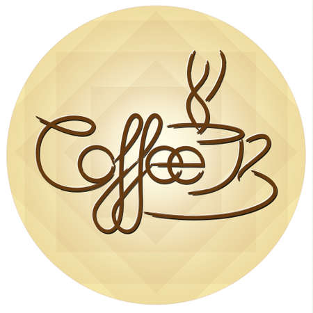 coffeehouse: Coffee Logo Template With Stylized Cup.Vector illustration