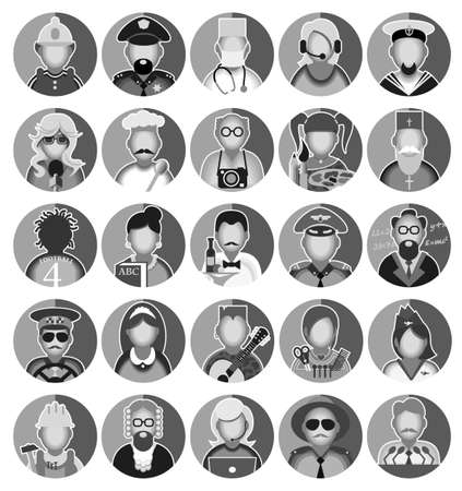 user icon: Set of icons with people profession. Vector illustration Illustration