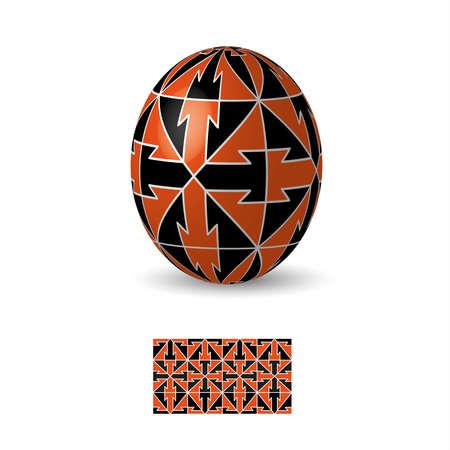 Oeuf de Pâques avec ukrainiens ornements de motifs folkloriques. Banque d'images - 52521115