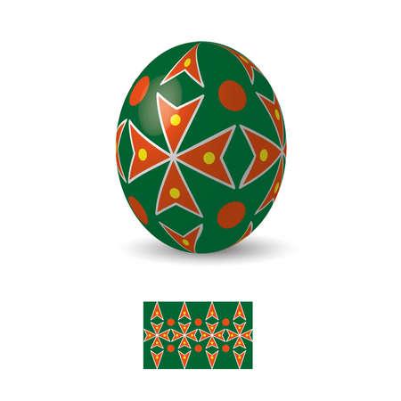 Oeuf de Pâques avec ukrainiens ornements de motifs folkloriques. Banque d'images - 52521118