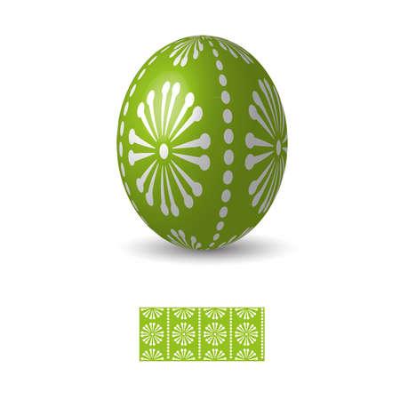 Oeuf de Pâques avec ukrainiens ornements de motifs folkloriques. Banque d'images - 52524219