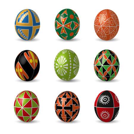 Ensemble de couleur des ?ufs de Pâques. Banque d'images - 52524217