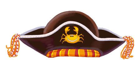 Chapeau de pirate d'un ensemble de jouets pour enfants. Raster illustration Banque d'images - 54979054