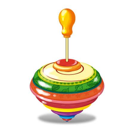 molinete: PERINOLA un conjunto de juguetes para ni�os. ilustraci�n de la trama