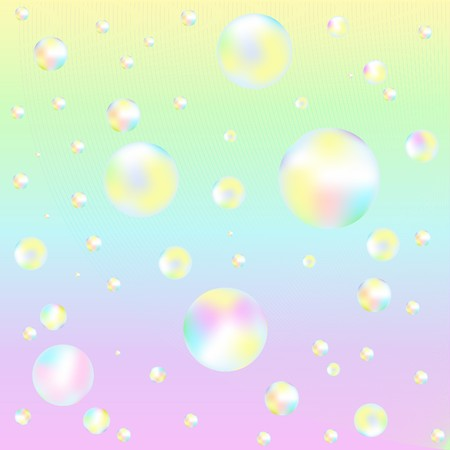 Background With Colorful Soap Bubbles photo
