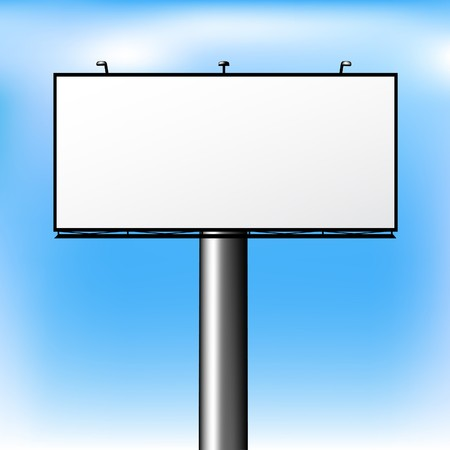 Blank Advertising Billboard Over Sky photo
