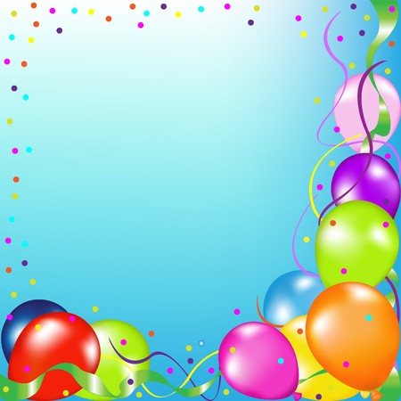 Party Background With Balloons photo