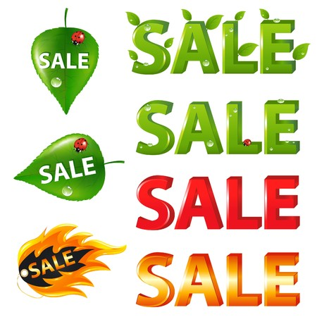 Big Sale Texts and discount signs and tags, Isolated on white Stock Photo - 7097360
