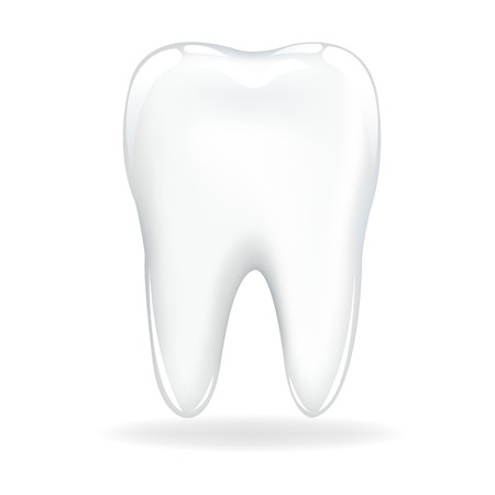 decayed: Brilliant Tooth, Isolated On White Background, Vector Illustration Illustration